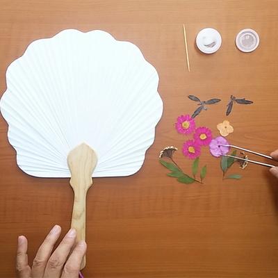 꽃보듬(압화) 연엽선 연잎부채 만들기 KIT