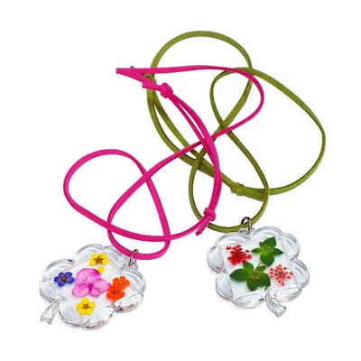 꽃보듬(압화) 클로버 목걸이 만들기 KIT