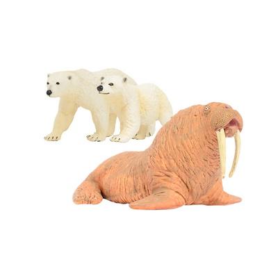 [사파리엘티디] 북극곰&바다코끼리 동물피규어 세트(273429,273329,248729)