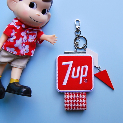 토이 키링-패치 스트랩(7UP 레드)