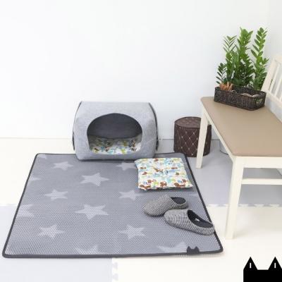 스타캣 고양이 모래매트_별패턴 점보(120cmX100cm)/특대형 사막화방지