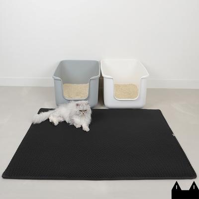 스타캣 고양이 모래매트_블랙 점보(120cmX100cm)/특대형 사막화방지