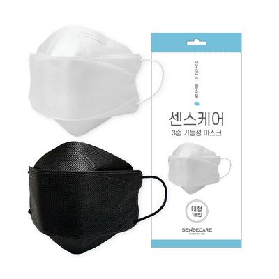 국내생산 센스케어 3D 3중 기능성 마스크 대형 50매입