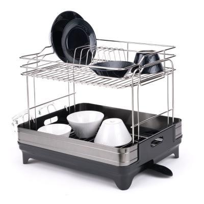 스마트 물빠짐 설거지 식기건조대 2단