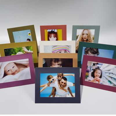 사진액자 컬러 4x6 종이액자 스탠딩 겸용 10가지 고급 색상 (10개)
