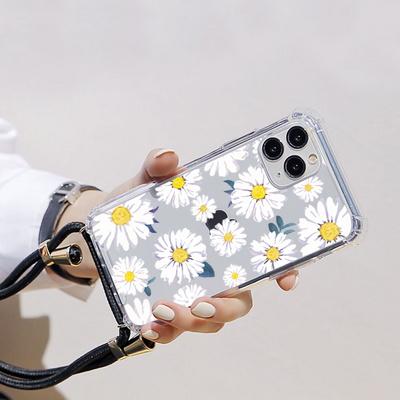 갤럭시S20울트라(G988) 플라워패턴 핸드폰줄 케이스