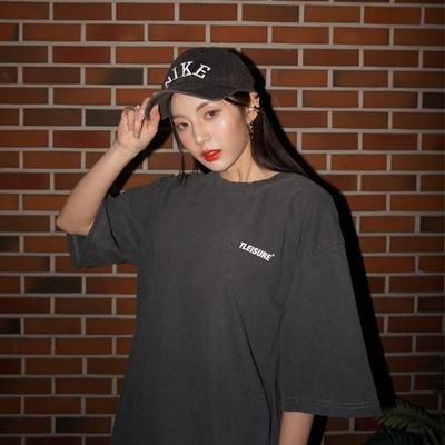 자체제작 선발매 스몰로고 피그먼트 오버핏 반팔 티셔츠 남여공용