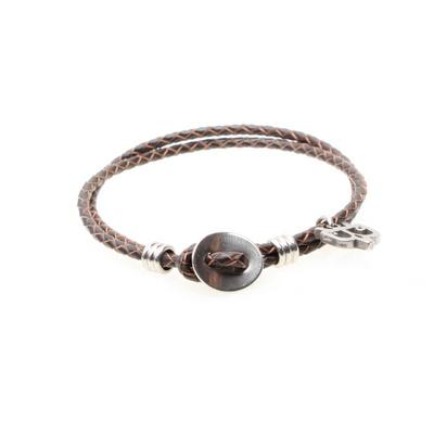 비엔베투 써지컬 Button Leather Bracelet (BVSTBBL)