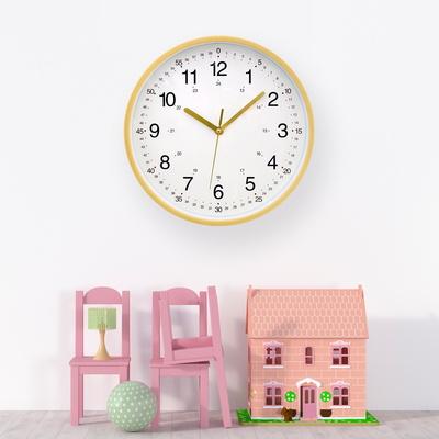 무소음 어린이 교육용 벽시계 학습용 아이 공부 시계