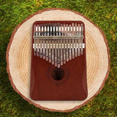 소소일상 그립형 칼림바 17건반 음계각인 악기
