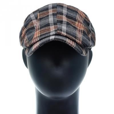 [플릭앤플록]QMH14.절개 타탄체크 헌팅캡 남성 모자