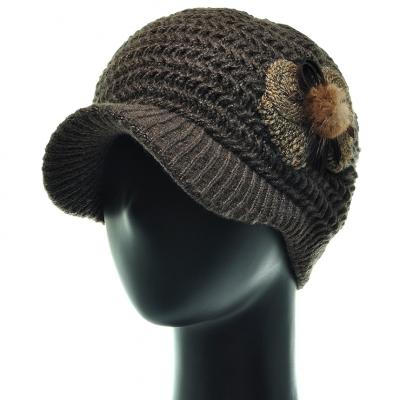 JCS43.밍크리본 중년 여성 캡모자 비니 겨울 모자