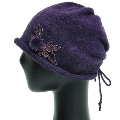 JAS07.밍크꽃 니트 중년 여성 비니 엄마 할머니 겨울 모자