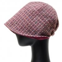 LAU22.격자 중년 여성 벙거지 모자 비니 가을 겨울 보넷
