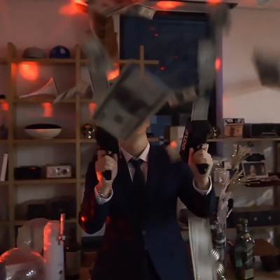 GAZE MONEY GUN 게이즈 머니건 연말 클럽 파티 이벤트용품 (지폐50pcs 포함)