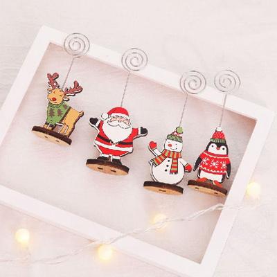 크리스마스 메모꽂이 명함 카드홀더 파티용품