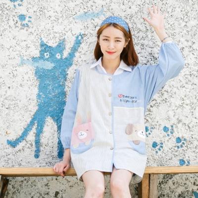 긴팔 예쁜 원피스 앞치마 어린이집 유치원 교사