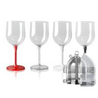 휴대용 접이식 와인잔(와인잔 케이스포함)