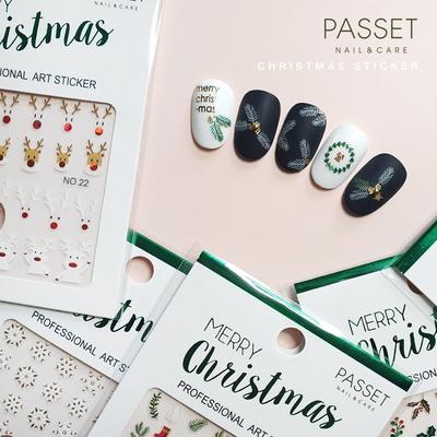 파셋 2019 크리스마스 네일아트 스티커