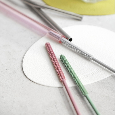 파스텔 실리콘 빨대 세척솔(3color)