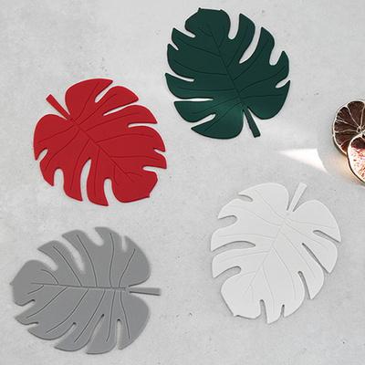 르리에 나뭇잎 실리콘 컵받침 2p세트 (5color)