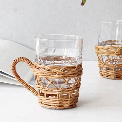 라탄 컵홀더 컵꽂이 1p