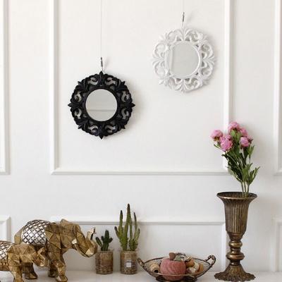 블랙앤화이트 미니 원형 거울 (4type)
