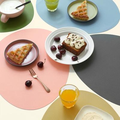 르리에 실리콘 식탁 테이블매트(오벌) 7colors