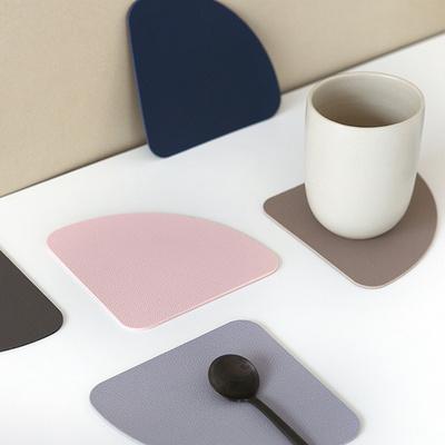 델피노 인조가죽 컵받침 코스터 2개세트 (7colors)