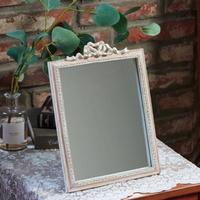 빈티지 핑크 리본 사각 거울