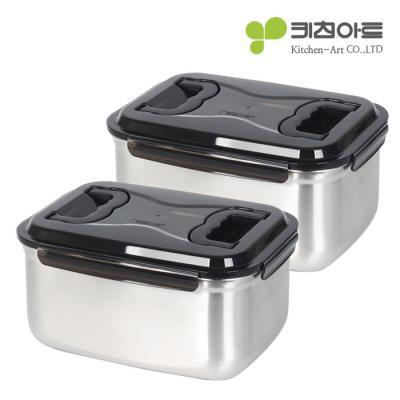 키친아트 스테인레스 김치통 4호 9.5L(2종세트)
