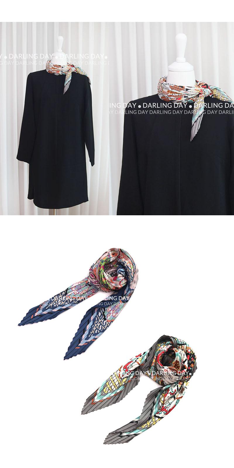 프렌치 가든 플리츠 스카프 (2 colors) - 달링데이, 18,000원, 스카프, 쁘띠 스카프