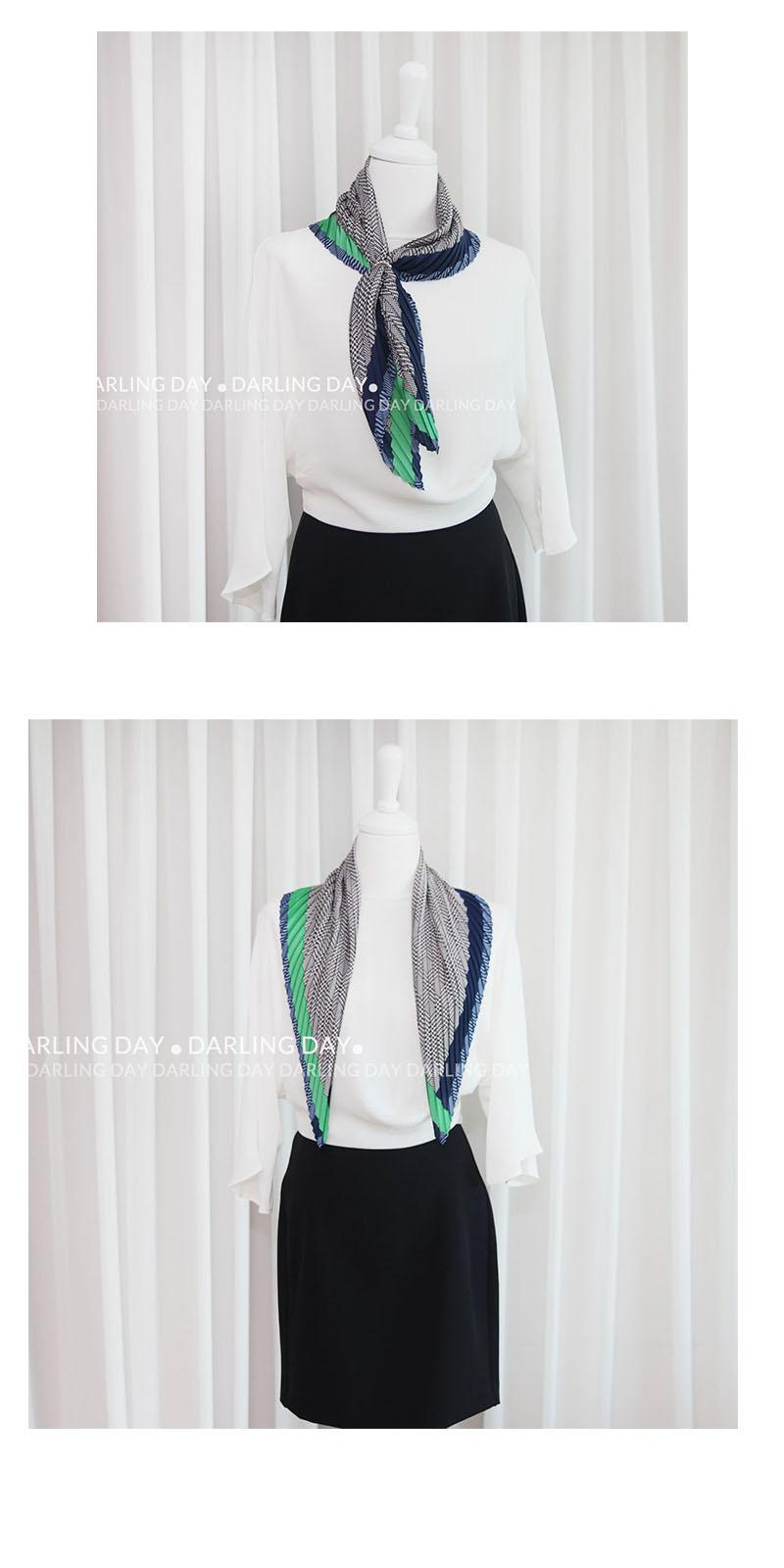 댄디 체크 플리츠 스카프 (3 colors) - 달링데이, 18,000원, 스카프, 쁘띠 스카프