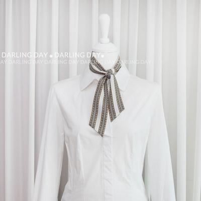 트위드 체인 쁘띠 트윌리 스카프 (2 colors)