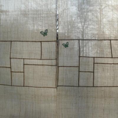(규방공예 D.I.Y)  나비가 있는 풍경 모시 가리개 만들기