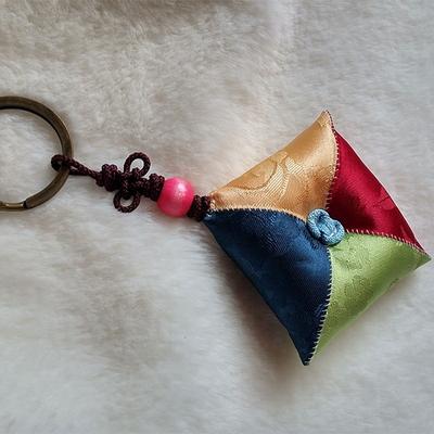 (d.i.y)조각보 열쇠고리 만들기(실 바늘 솜 포함)