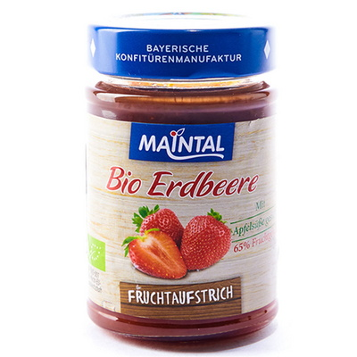 마인탈 유기농 사과즙으로만든 무설탕 딸기잼 200g