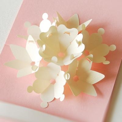 일곱송이 팝업 꽃 봉투 Pearl