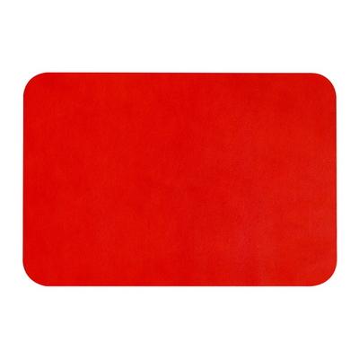 데스크 매트 라운드 천연 레드 (송아지가죽) (O2639)