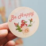 Be happy 스티커-Rose