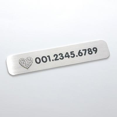 둥근사각주차번호판-하트크리스탈