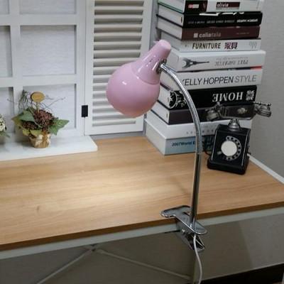 스프링 LED 집게 스탠드 (핑크)