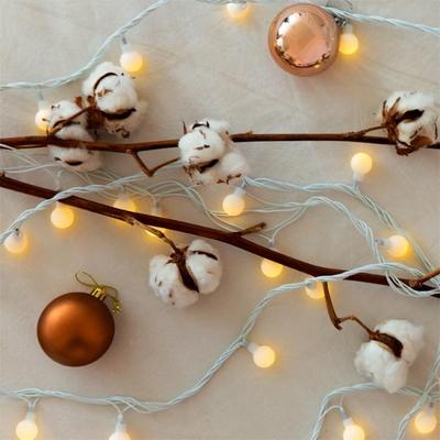 LED 크리스마스 앵두전구 [웜화이트] (80구트리전구)