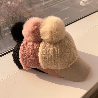 소프트 폼폼 뽀글이 볼캡 모자 3color