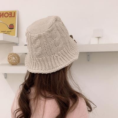 코튼 니트 버킷햇 꽈배기 여성 벙거지 모자 3color