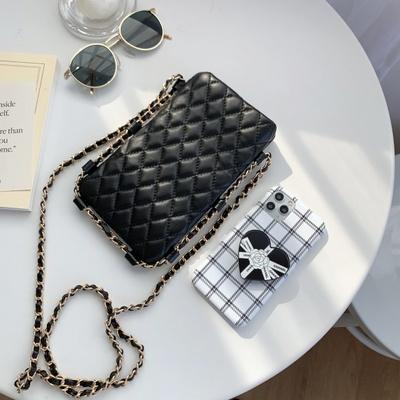 스마트폰 미니백 퀄팅 체인 핸드폰 크로스백 가방