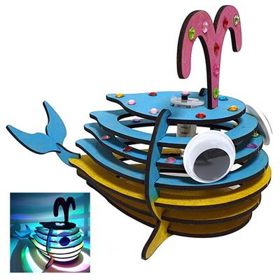 만들기대장-큰눈 고래 led 조명등 만들기