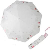 R7174 두건소녀 크림 3단자동우산