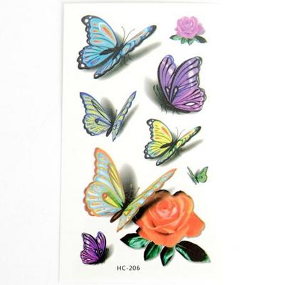 컬러풀 나비 타투 스티커