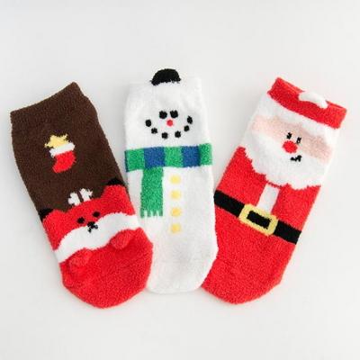 산타와 친구들 수면양말 3종세트